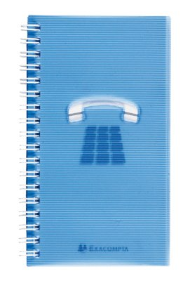 EXACOMPTA Répertoire adresse Wire-o 160x90 Linicolor tranche naturelle 96 p 160x90 mm Assorti
