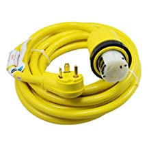 Conntek 14435 25-Feet 30 to 50-Amp RV Power Cord with NEMA TT-30P male plug to SS2-50R female locking connector