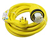 Conntek 14435 25-Foot RV Power Cord RV 30 Amp Male Plug To 50 Amp 125/250 Volt Locking Female Connector