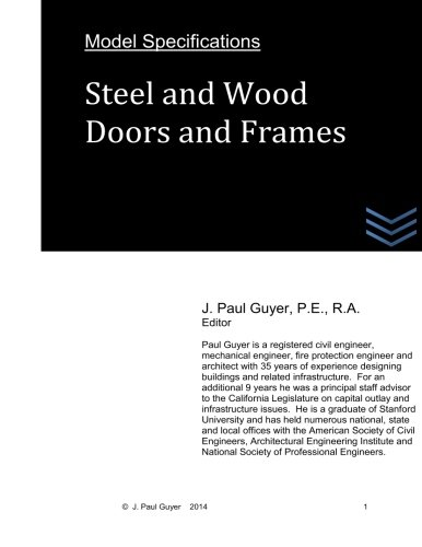 Download Model Specifications: Steel and Wood Doors and Frames ebook