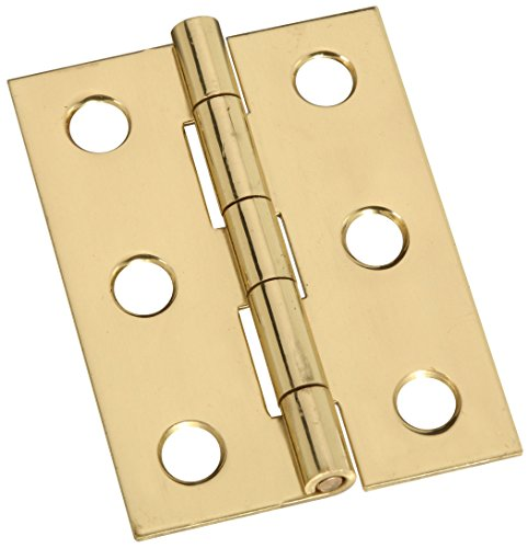 Stanley Hardware S803-230 CD5302 Broad Hinge in Brass, 1-3/4, 2 piece ()