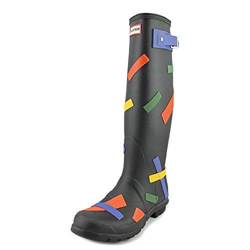 Hunter Womens Original Tall TICK Tape Wellington Boot (WFT1028RTX) Black/Cobalt/Grass eHS13T5U
