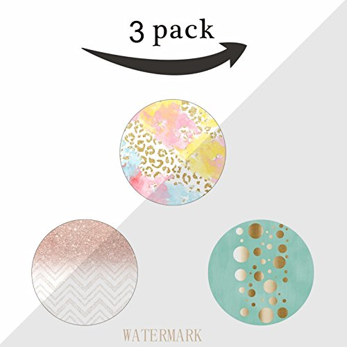 Expanding Phone Holder, Pop Phone Socket and Stand for Iphone, Smartphone and Tablet-T1078-chic gold leopard pattern watercolor brushstrokes,dots mint blue,rose gold glitter ombre