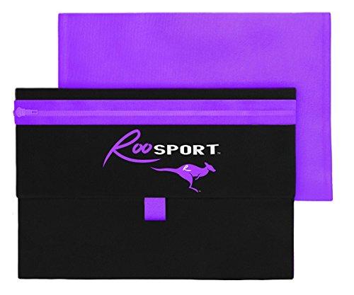 RooSportPlus Magnetic Pouch Holds iPhone 7+, Samsung 8+, Running, Passport, Running Belt, Disney Fanny Pack, Travel (Purple)