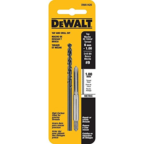 - DEWALT #9 Drill and 6 mm x 1.0 NC Tap Set