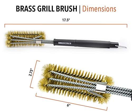 Large BBQ Butler Brass Grill Brush