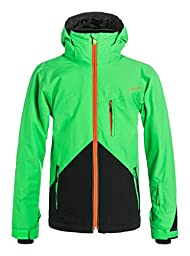 Quiksilver Boys Mission Colorblock - Snow Jacket Snow Jacket Green 12