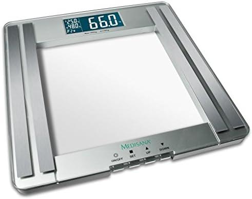 Medisana PSM Báscula digital de análisis corporal de hasta 180 kg, báscula personal para la medición de grasa corporal, agua corporal, masa muscular e ...