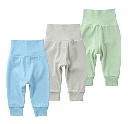 SYCLZ Baby Cotton High Waist Footed Pants Casual Leggings 0-12M (6-12M, F) ()