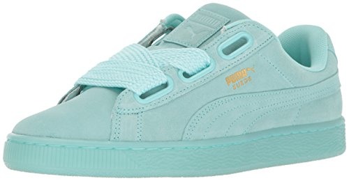 PUMA Women's Suede Heart Reset Fashion Sneaker - Aruba Blue (Large Image)