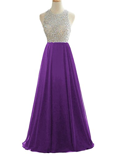 HEIMO Women's Sequins Keyhole Back Evening Ball Gown Beaded Prom Formal Dresses...
