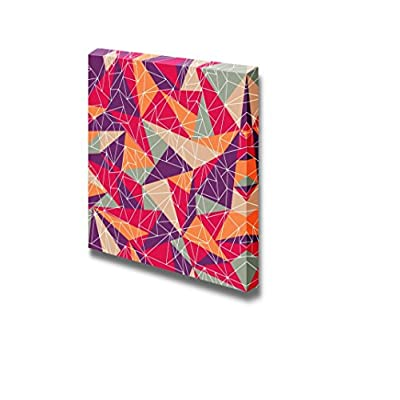 Canvas Prints Wall Art - Abstract Geometric Colorful Mosaic Pattern | Modern Wall Decor/Home Decoration Stretched Gallery Canvas Wrap Giclee Print & Ready to Hang - 16