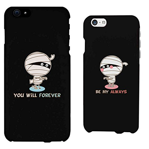 [365 Printing Forever Always Mummies Black Matching Couple Phone Cases Halloween Gifts] (Halloween Ideas For Couples)