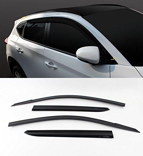 - Sell by Automotiveapple, SAFE K901-148 Smoke Sun Shield Wind Rain Window Visor Vent 4-pc Set For 2016 Hyundai Tucson