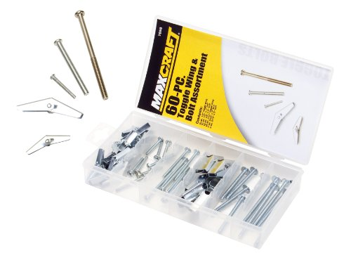 Maxcraft 7698 Toggle Wing and Bolt Assortment, 60-Piece