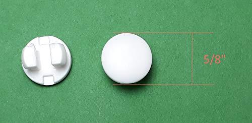 Asia Buy Horizontal Blinds Plastic Bottom Rail Ladder Cord Button Plug 1/2″- White (12)