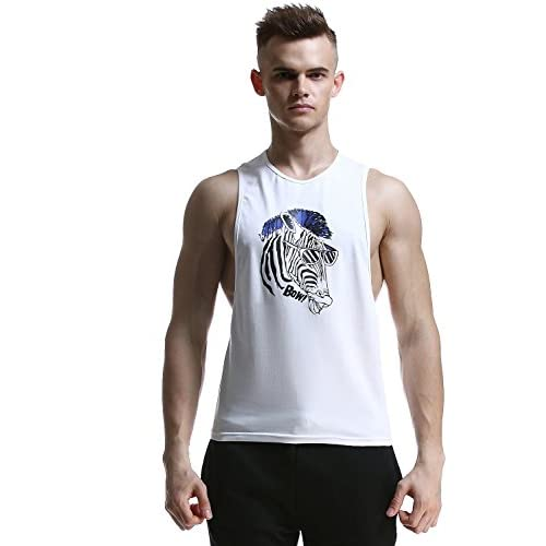 SEOBEAN Mens Cotton Gym Tank Top Fitness Sleeveless Shirts