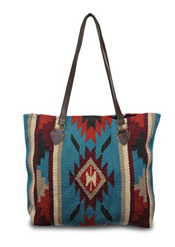 - Southwest Boutique Wool Tote Purse Bag Native American Western Style Handwoven (Tucson)