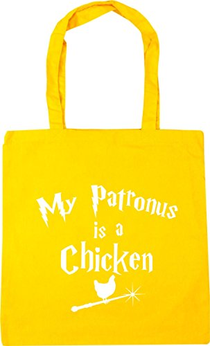 x38cm Gym Beach 10 Is My Yellow Shopping Patronus litres 42cm Bag Chicken Tote A HippoWarehouse FqZPwP