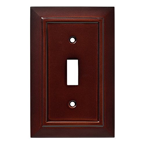 Franklin Brass W35241-ESO-C Classic Architecture Single Switch Wall Plate/Switch Plate/Cover, Espresso - Brass Classic Lighting