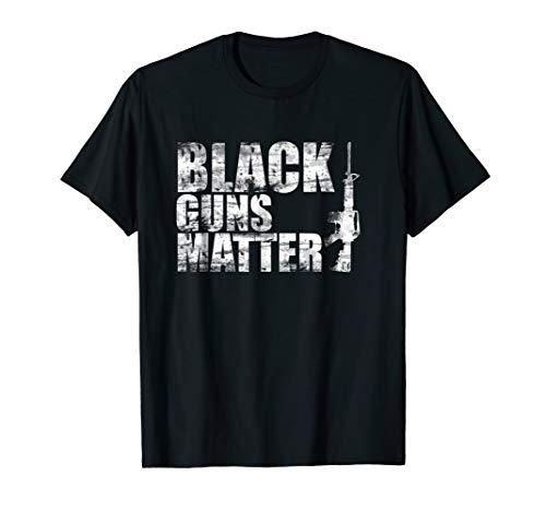 Black Guns Matter AR15 NRA T Shirt 1911 9mm Shooting ()
