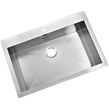 KINGO HOME Stainless Steel Top Mount 32-Inch 9 Inch Extra Deep 18 ...