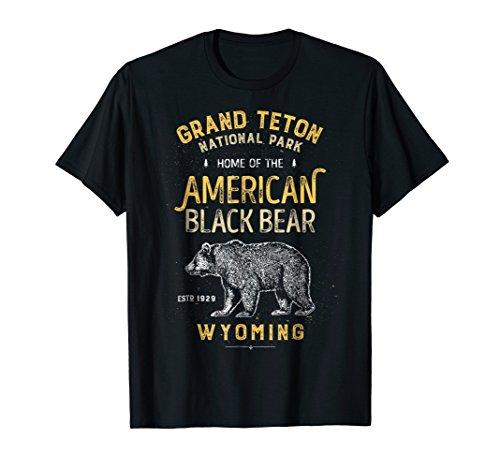 Grand Teton National Park T Shirt Vintage Wyoming Bear