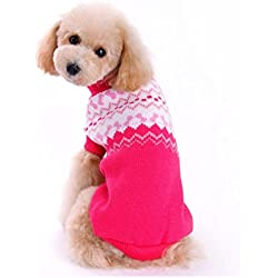 WEUIE Clearance Sale Pet Dog Sweater Winter Clothing Puppy Wear(S,Pink)
