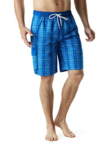 Tesla TM-MSB04-CBL_Large Men's Swimtrunks Quick Dry Water Beach MSB04 by Tesla