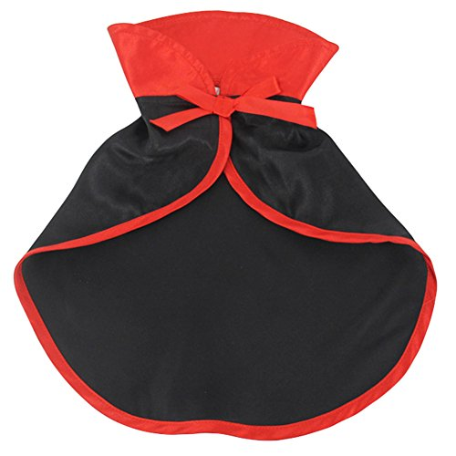 2Pcs Small Dog Vampire Costume Halloween Holiday Outfits with Cloak Pet Cat (Cat Vampire Halloween)