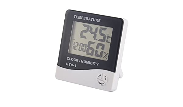 Amazon.com: eDealMax Indoor Tempo Digital Display LCD Alarm Clock di umidità di temperatura del termometro del Tester igrometro: Home & Kitchen