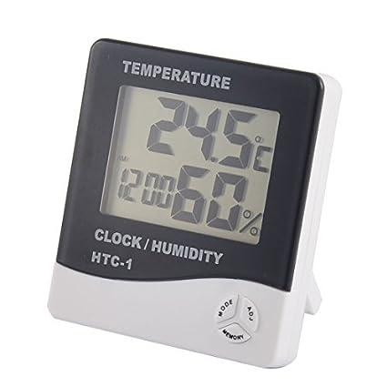 DealMux Indoor Digital Display LCD Tempo Relógio Despertador Temperatura medidor de umidade termômetro higrômetro