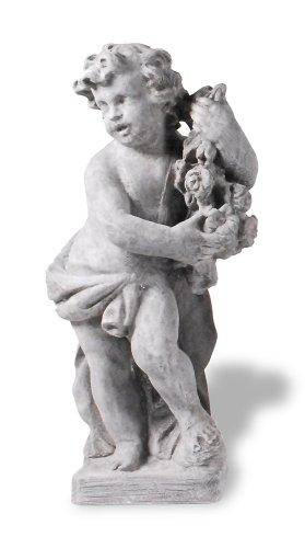 Amedeo Design ResinStone 1200-6G Spring Cherub, 14 by 14 by 36-Inch, Lead (Cherub Urn)