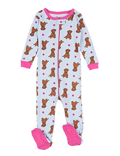 Leveret Kids Pajamas Baby Boys Girls Footed Pajamas Sleeper 100% Cotton (Puppy Dog, Size 2 Toddler) ()