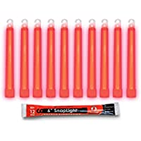 Cyalume SnapLight Red Glow Sticks - 6 Inch Industrial Grade, Ultra Bright Light Sticks with 12 Hour Duration by Cyalume
