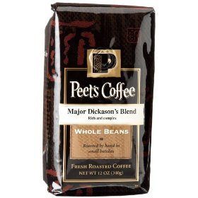 Peet's Coffee, Major Dickason's Blend, WHOLE BEAN, 12 oz. (Pack of 2)