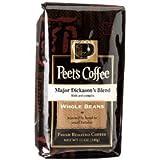 Peet's Coffee, Major Dickason's Blend, WHOLE BEAN, 12 oz. (Pack of 2)