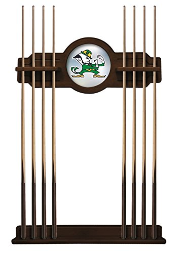 Notre Dame (Leprechaun) Cue Rack in Navajo Finish by Holland Bar Stool Co.