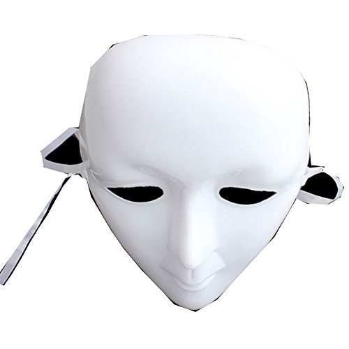 Scary White Mask Ball Party Costume Halloween Mask Face Masquerade DIY Mime Cosplay - Diy Mask Men's Masquerade