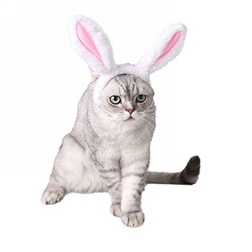 BUYITNOW Plush Bunny Ears Pet Headband Christmas Rabbit