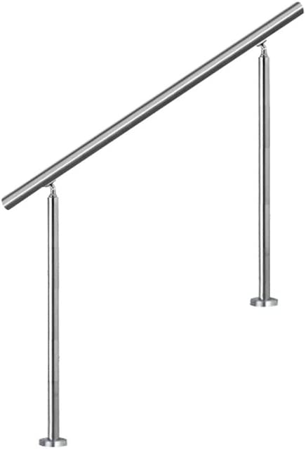 SAILUN Main courante escalier,150cm Garde-corps en acier inoxydable avec 4 poteaux traverses,pour escaliers,balustrade,balcon
