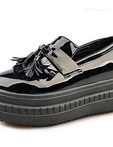 ZQ Zapatos de mujer-Tacón Plano-Comfort-Planos-Exterior / Oficina y Trabajo / Casual / Deporte / Laboral-PU-Negro / Rosa / Marfil / Bermellón , ivory-us8.5 / eu39 / uk6.5 / cn40 , ivory-us8.5 / eu39 / burgundy-us8 / eu39 / uk6 / cn39