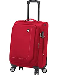 Mia Toro Madesimo Softside Spinner Carry-on, Red