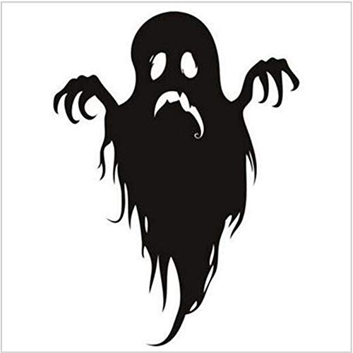 Halloween Wall Decals Ghost Wall Stickers Halloween Spooky Wall Decals Window Stickers Decoration for Living Room Porch Front Door Shop Window Display Glass -