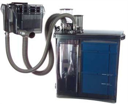 Wet/Dry system with protein skimmer and overflow box