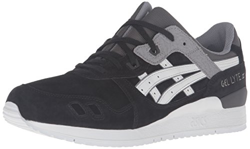 Asics Mens Gel-lyte Iii Fashion Sneaker Nero / Soft Grigio