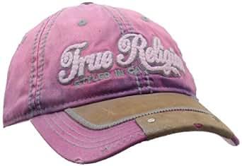 True Religion Women's Script Baseball Hat, Purple, One Size
