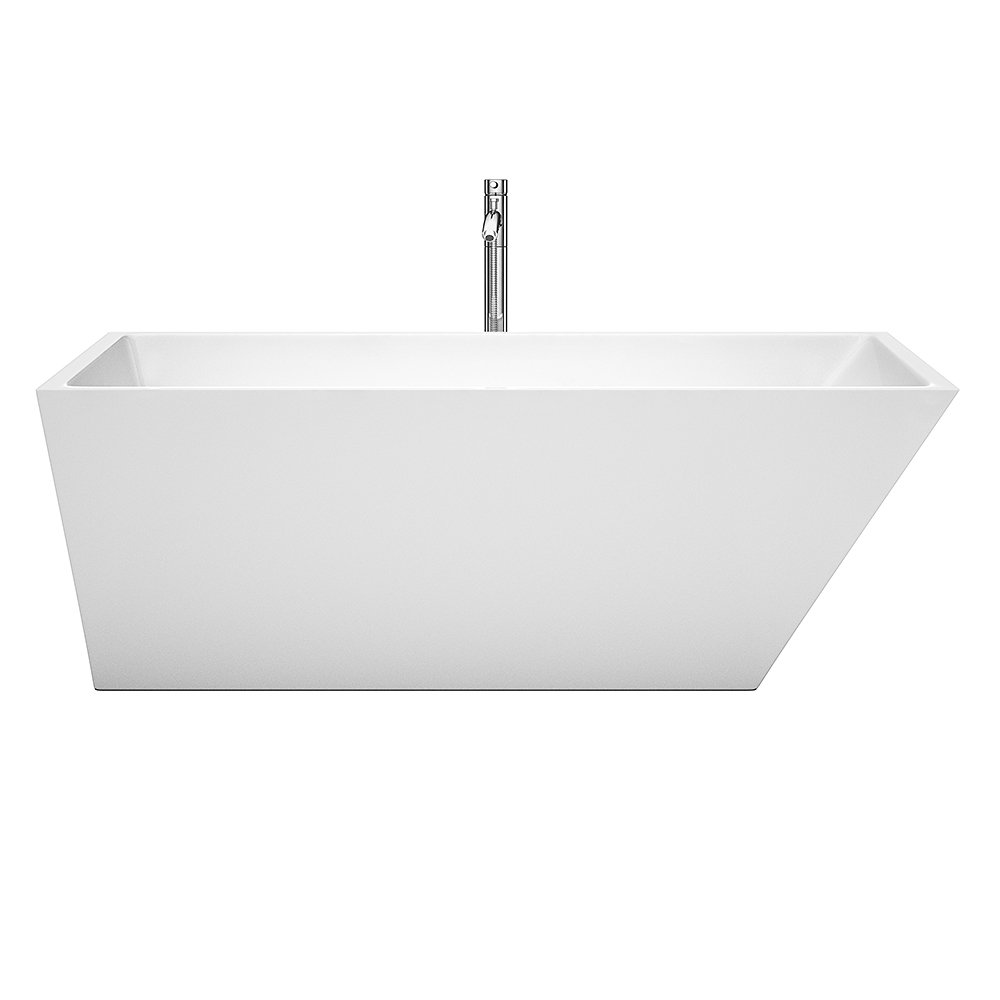 Wyndham Collection Hannah 67 inch Freestanding Bathtub for Bathroom ...