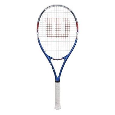 Wilson US Open Strung Tennis Racquet, 4 1/4-Inch, Blue/Gray