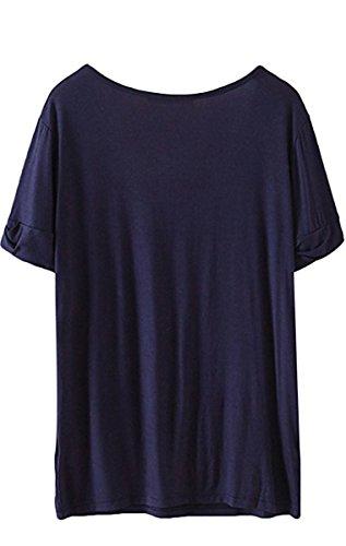 Liqy - Camiseta sin mangas - para mujer azul marino